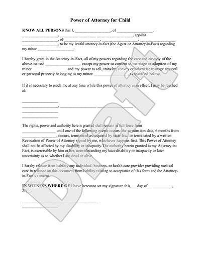temporary power of attorney template free temporary power of attorney template free template
