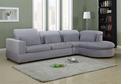 Plush Sectional Sofas Oron Sectional Sofa In Grey Ultra Plush 50230 By Acme Furniture