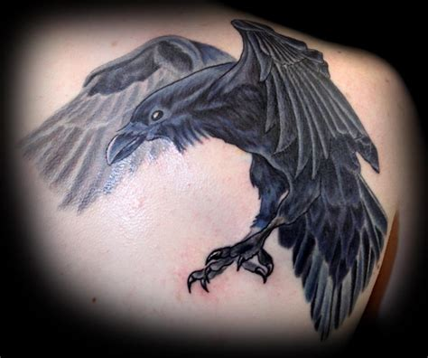 tattoos of crows large covering up an dove by