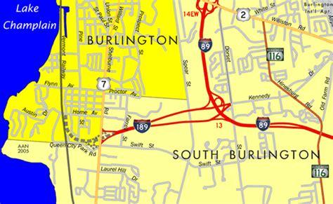 burlington vt map vermont aaroads burlington