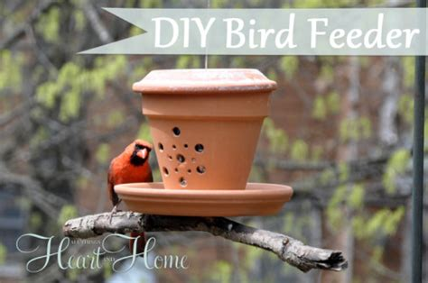 diy bird feeder from a flower pot all things heart and home