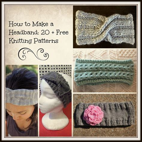 how to make a knitted headband how to make a headband 20 free knitting patterns