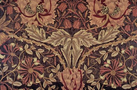 Upholstery Fabric Wiki by File Morris Honeysuckle Fabric 1876 Png