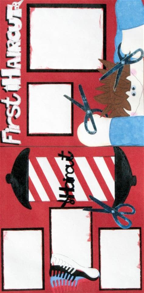 scrapbook layout for first haircut first haircut scrapbook page kit scraptique inc