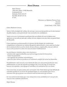 Lettre De Motivation Barman Hotel De Luxe lettre de motivation veilleur de nuit exemple lettre de