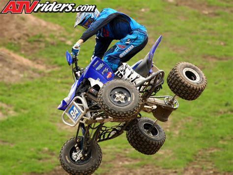 brown motocross kawasaki s chad wienen atv motocross track with yamaha s