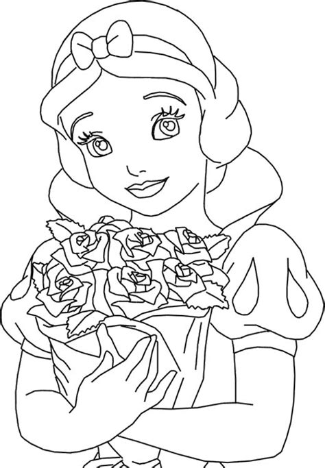 princess rose coloring page princess snow white and roses coloring pages coloring