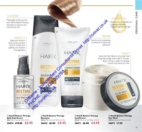26642 Hairx Restore Therapy Shoo oriflame cosmetics uk usa 12 august september 2016