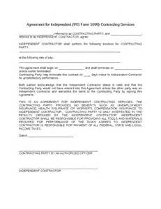 independent contractor agreement sle template template for independent contractor agreement 28 images