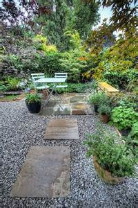 Formal Herb Garden - seating area with gravel 171 green designs