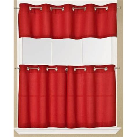 red curtains with grommets jackson solid red grommet top tier curtain and valance