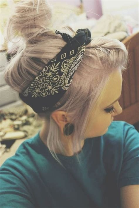biker bandana look cute on thin hair how to create a hairstyle with a bandana pretty designs