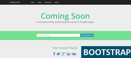 bootstrap themes coming soon free free bootstrap coming soon page simple