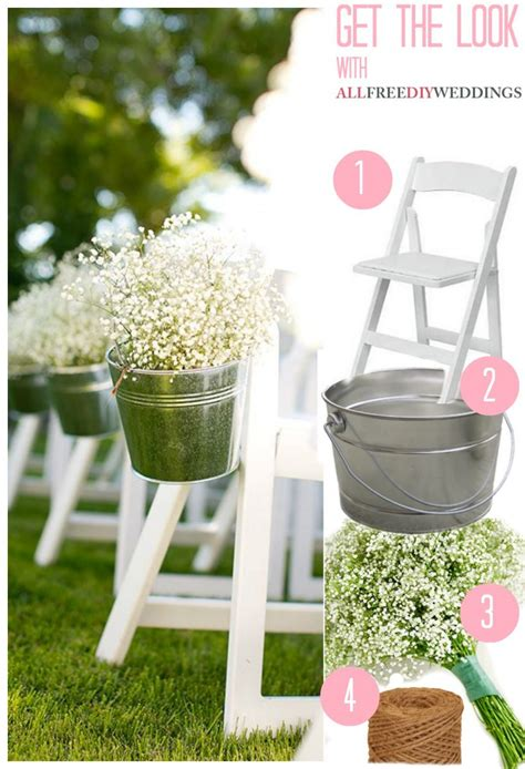 Baby S Breath Wedding Aisle by Baby S Breath Pail Wedding Aisle Decor Buckets Jar And