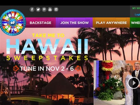 Disney Hawaii Sweepstakes - the wheel of fortune take me to hawaii sweepstakes sweepstakes fanatics