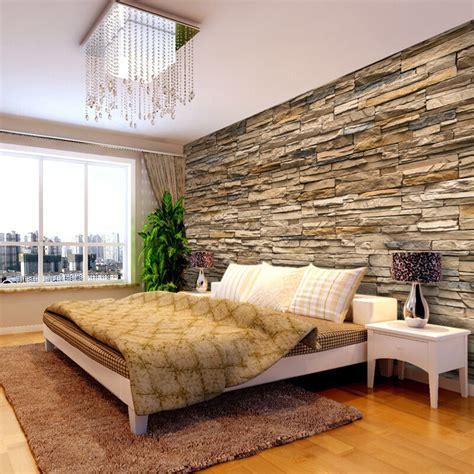wallpaper bedroom living mural roll modern faux brick