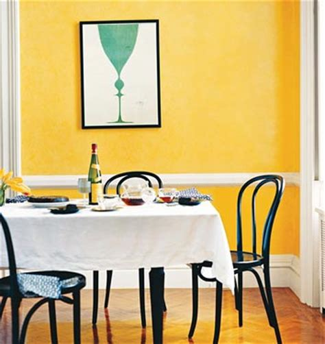 yellow dining room blue poster domino walls are painted flickr