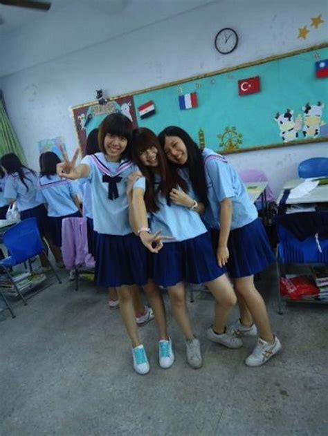 Seragam Anak Sekolah Cantik Banget Seragam Sekolah Cewek Cewek Taiwan Ini