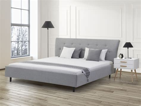 grey fabric bed elegant grey fabric bed queen size upholstered platform