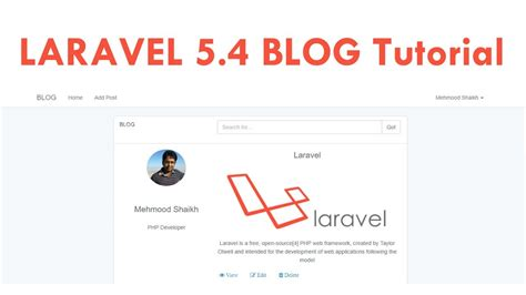 download tutorial laravel 5 laravel 5 4 blog tutorial for beginners step by step youtube