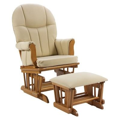 rocking chair with ottoman target shermag danielle deluxe sleigh style rocker glider and