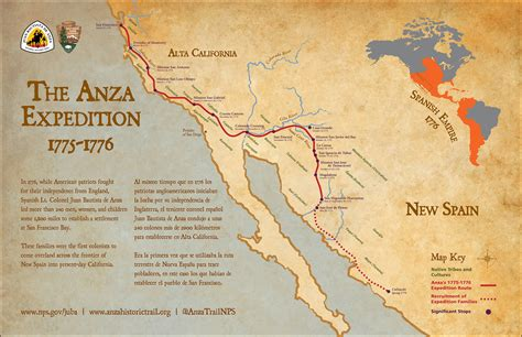 de anza map maps juan bautista de anza national historic trail u s national park service