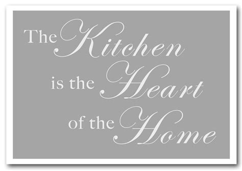 the kitchen is the heart of the home the kitchen is the heart of the home grey white text
