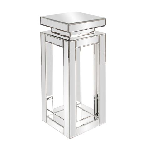 Small Pedestals mirrored pedestal table small howard elliott
