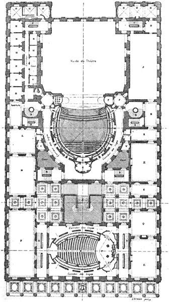 File:Théâtre de Bordeaux plan au niveau des secondes loges