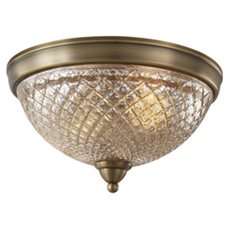 Allen Roth Ceiling Lights Shop Allen Roth Lynlore 12 99 In W Brass Ceiling Flush Mount Light At Lowes
