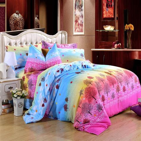 pink and yellow comforter sets aqua blue pink and yellow birch tree print bright colorful