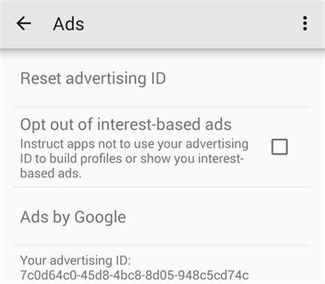 reset android id how to reset your advertising id and opt out of targeted
