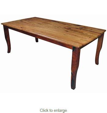 san rafael dining table san rafael mesquite curved leg dining table 84 inch