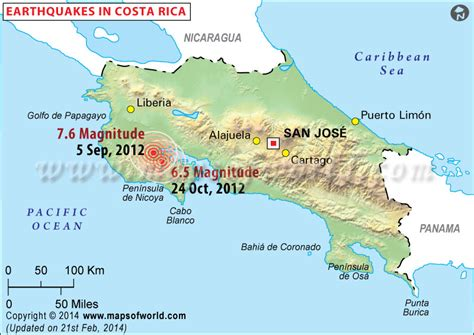 earthquake costa rica earthquakes in costa rica