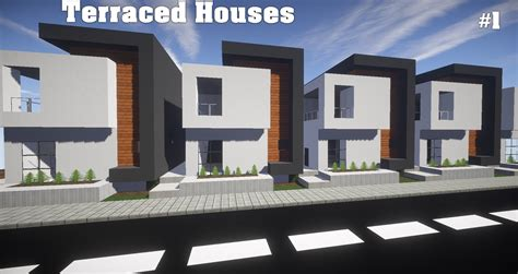 How To Build An A Frame House by Minecraft Lets Build A City Ep 2 Terraced House Youtube