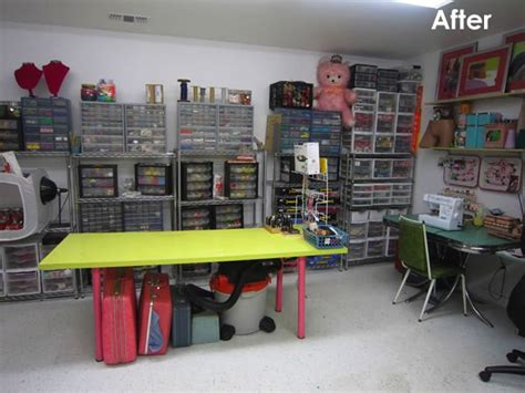 Garage Craft Room Ideas - 14 ideas to help you organize your craft room
