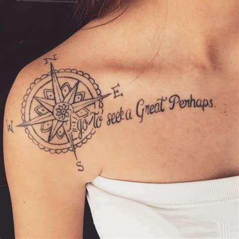 tattoo quotes shoulder pinterest little shoulder tattoo of a compass rose followed by the