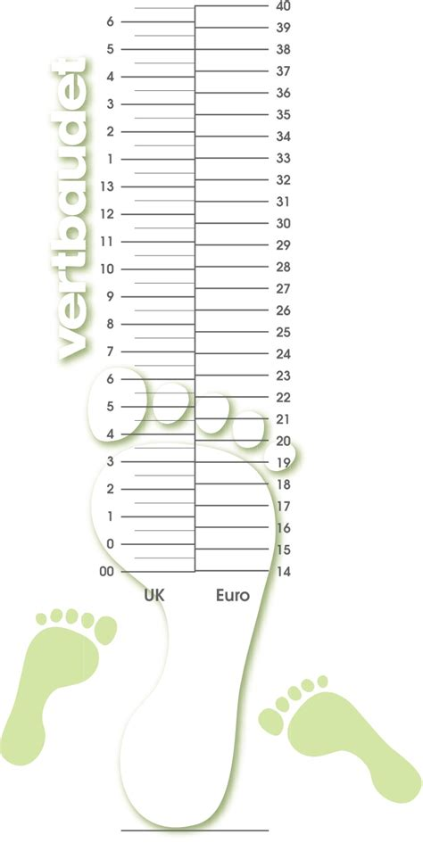 Printable shoe size template printable shoe size chart