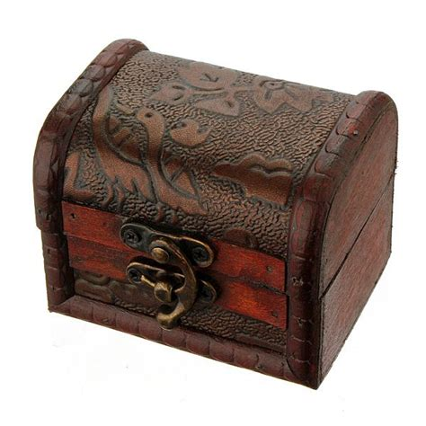 Printed Storage Box vintage antique flower printed wooden jewelry storage box