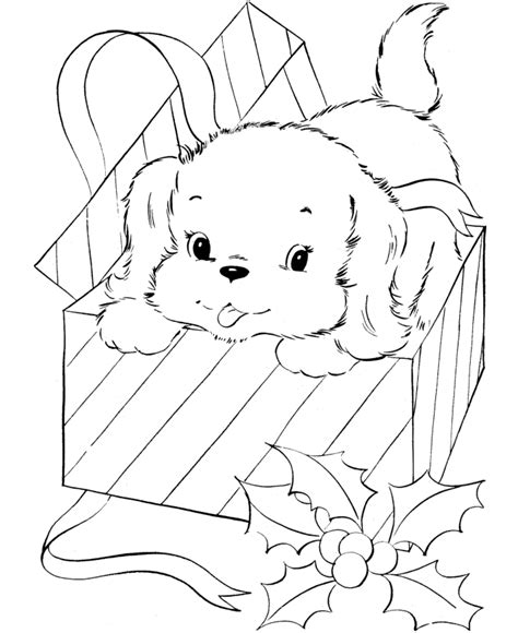 5 christmas puppy coloring pages printable