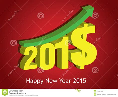 new year bank in money money growth of 2015 happy new year 2015 stock photo