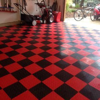 garage tiles speedway garage tile red  tab lock diamond