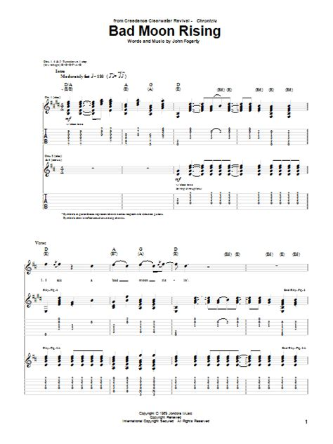 Creedence Clearwater Revival Guitar Chords