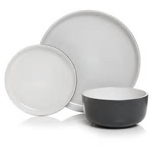 wilko utility dinner set grey 12 at wilko