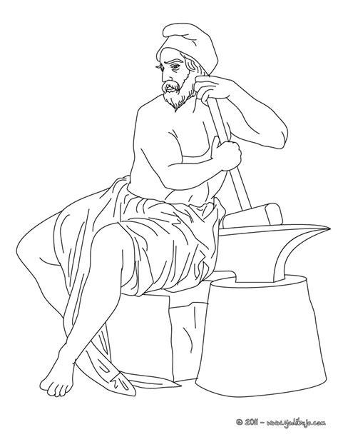 imagenes de dios zeus para dibujar dibujos para colorear dios hefesto dios griego del fuego