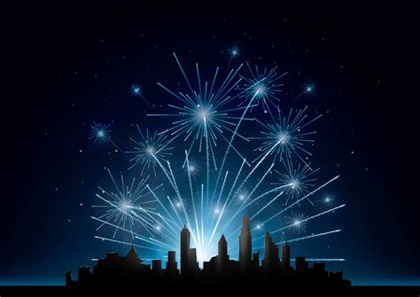 fireworks   city vector image  stockunlimited