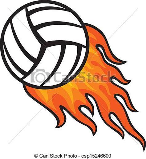 clipart pallavolo palla di fuoco pallavolo
