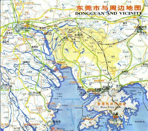 広州東莞広域地図