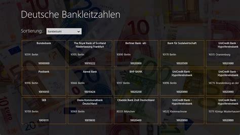 bankleitzahlen deutsche bank bankleitzahlen app f 252 r windows in windows store