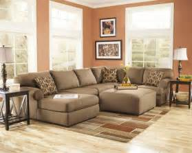 ashley furniture living room fusion ashley cowan mocha dark brown leather tufted sectional chaise lounge sofa